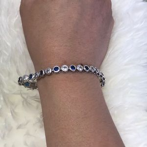 Jewelry - White and blue topaz sterling silver bracelet